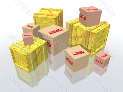export boxes and urgent packages