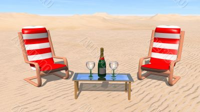 Champagne in the desert