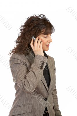 Businesswoman talking with phone