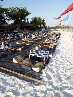 Beach restaurant in Thailand