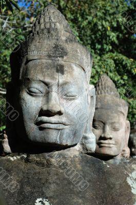 Asura statue at south gate, Siem Reap, Cambodia