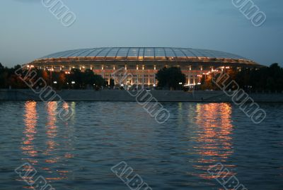 Appearance from Moscow river. stadium