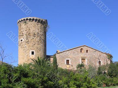 Ancient mediterranean manor with watchtower (Costa Brava, Spain)
