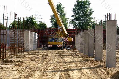 crane between columns