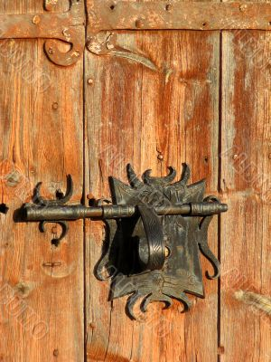 Antique chapel door
