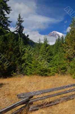 August mountain landscape