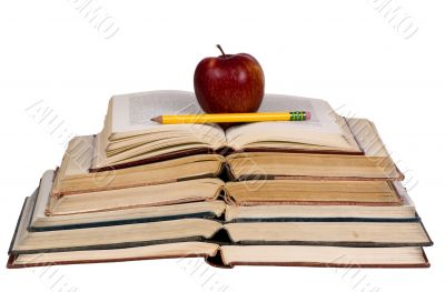 Educational Concepts (open books with apple)