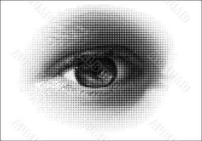 halftone eye / vector
