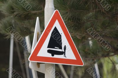 sign `boats crossing`