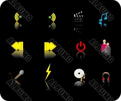 Color media icon set