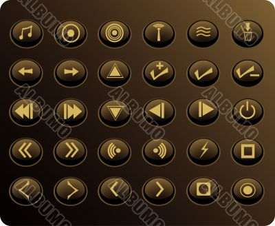 Gold Media Web Buttons