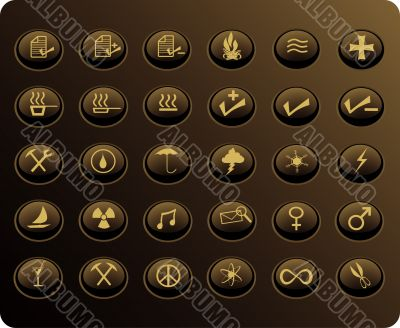 various web buttons