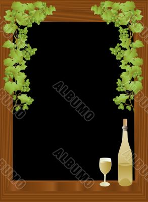 Wine and black background