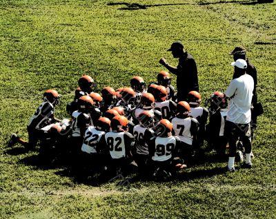 football - coach talk grunge style