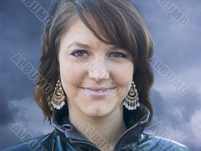 beautiful girl with ear-rings