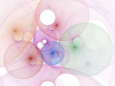 Pierced Bubbles against White