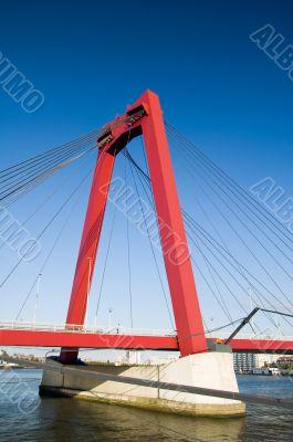 big red suspensionbridge