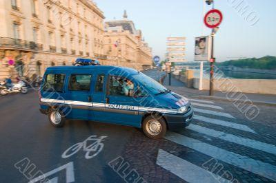 Gendarmerie, French Police Vehicle in Paris