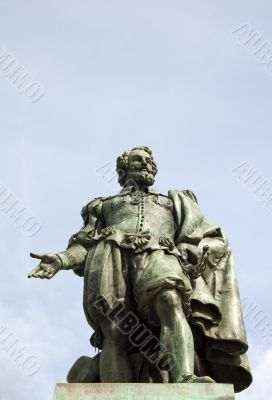 statue of the famous painter Rubens