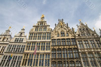 Antwerp skyline of renaissance buildings