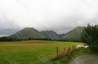 Rural norwegian landscape