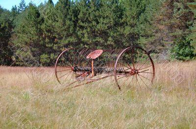 rusted hay turner
