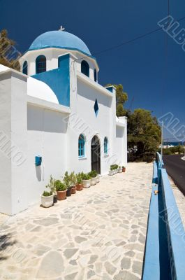 idyllic greek church
