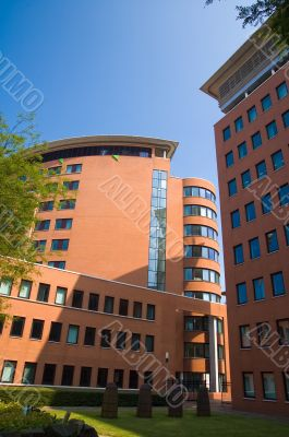 corporate building complex