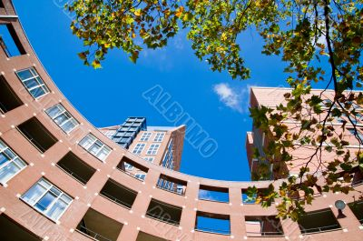 Apartments in a curve