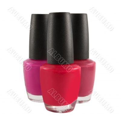 red fingernail polish bottles