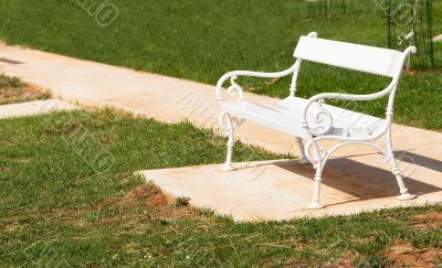 Park rest bench