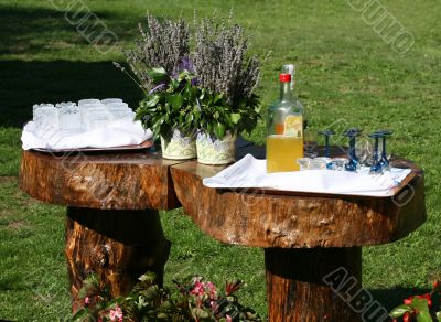 Prepared drink table