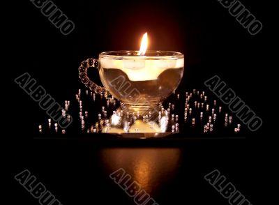 Burning Snowflake Candle Floating