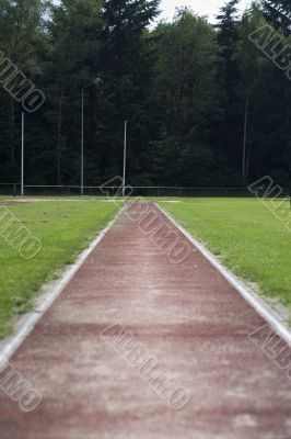 track on a sports-ground