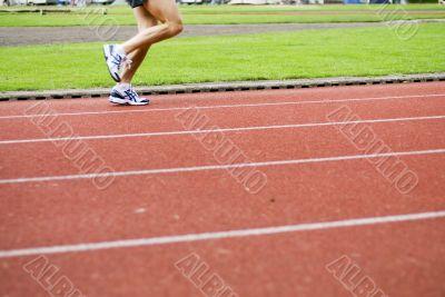 Running on sports-ground