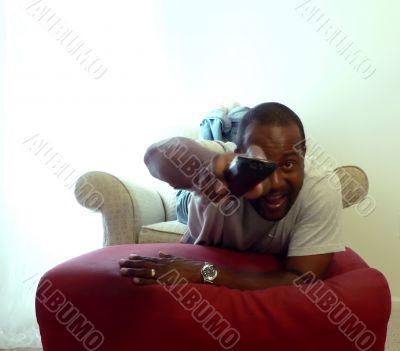african american man watching tv 5