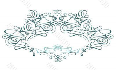 Scroll frame / vector / art deco style