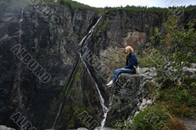 Norwegian waterfall Voringfossen