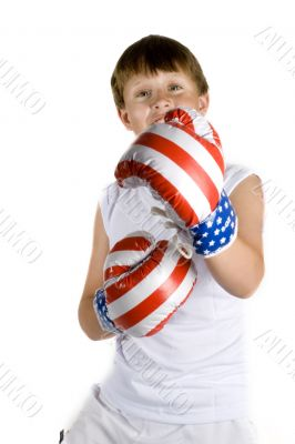 Boy with boxing-gloves