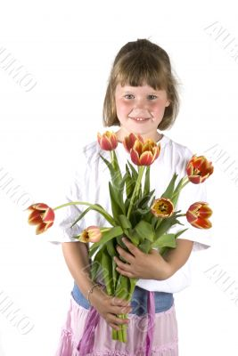 Girl with a flower-gift