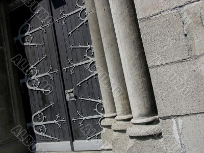 Curch pillars.