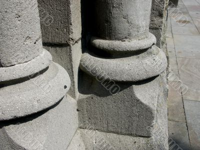 Parts of pillars.