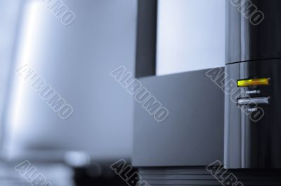 Desktop station with liquid crystal display. Close-up #2