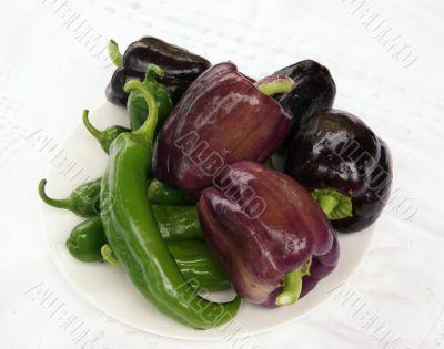 Harvest - Peppers & eggplant
