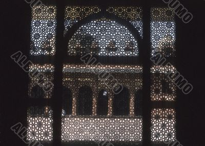 Exquisitely carved marble screen