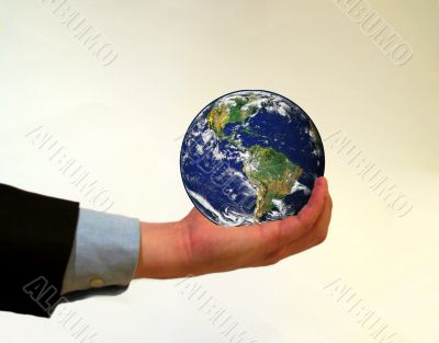 holding planet earth
