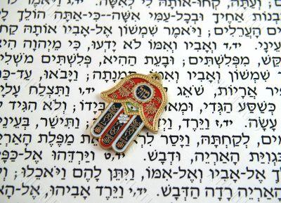 Hamsa kabbalah good luck charm