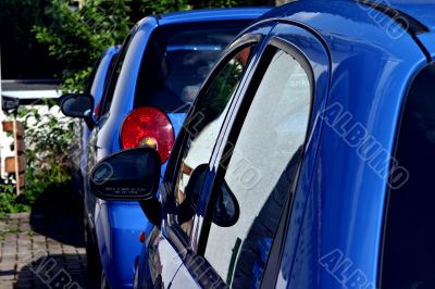 Blue rent cars