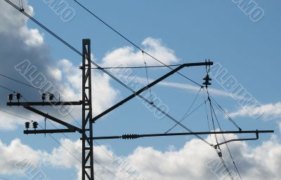 power line for electric trains