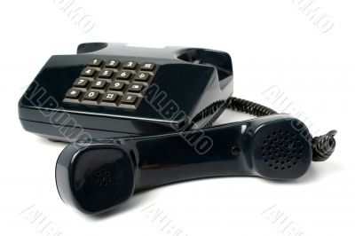 Telephone set of black color